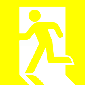 Emergency Exit Yellow Clip Art