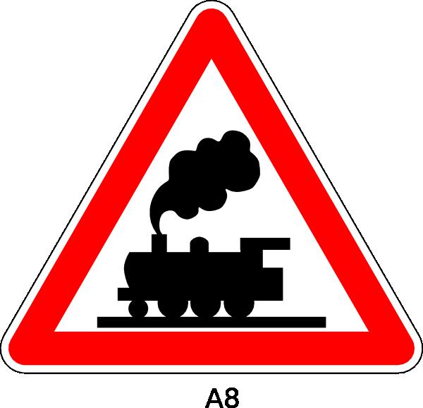 train crossing sign clip art at clkercom vector clip
