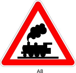 Train Crossing Sign Clip Art