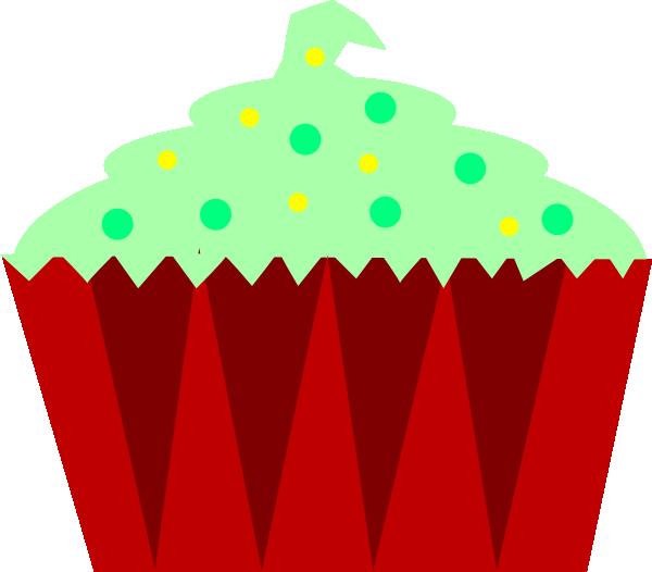 Christmas Cake Clipart : Christmas Cupcake Clip Art at Clker.com - vector clip art ...