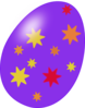 Purple Easter Egg With Stars Clip Art