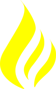 Yellow Three Flames Clip Art