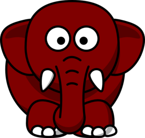 Brown Elephant Clip Art
