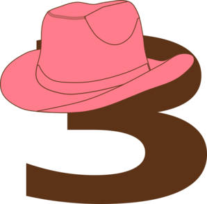 3  Cowgirl Hat Clip Art