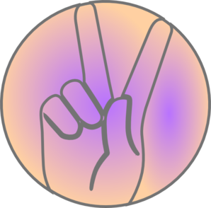 Peace Hand Sign Clip Art