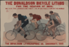 The Donaldson Bicycle Lithos For The Season Of 1896 Clip Art