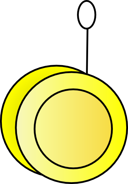 Yellow Yo-yo Clip Art at Clker com - vector clip art online  royalty