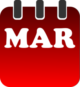March Calendar Clip Art