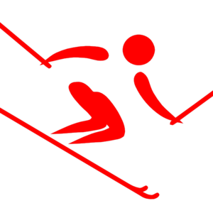 Pictogram Alpine Red Clip Art