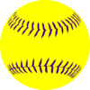 Yellow Purple Softball3 Clip Art