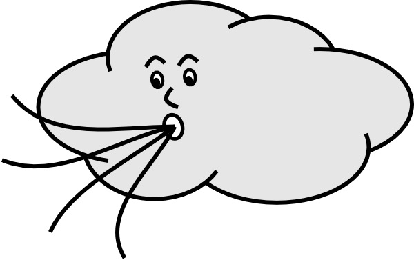 Wind Blowing Cloud Clip Art at Clker.com - vector clip art ...