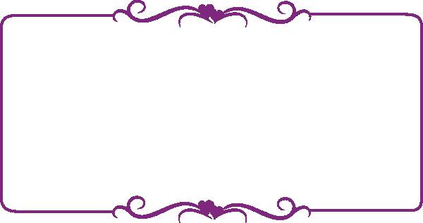 Purple Decorative Border Clip Art at Clker.com - vector clip art ...