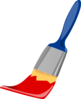 Paint Brush Blue And Red Clip Art