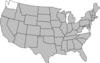 Highlighted United States Map Clip Art
