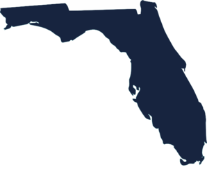 Dark Blue Florida Clip Art