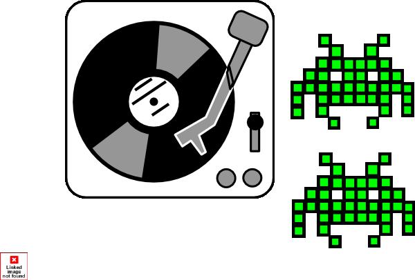 dj space invaders clip art at vector clip art online royalty free public domain. Black Bedroom Furniture Sets. Home Design Ideas