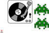 Dj Space Invaders Clip Art