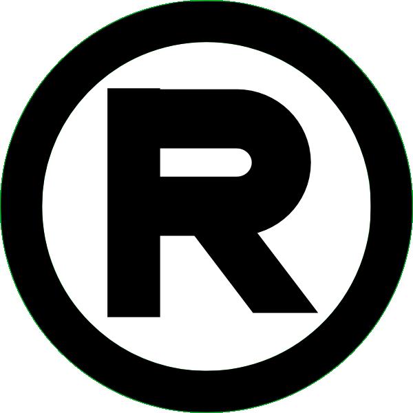 registered trademark black clip art at clkercom vector