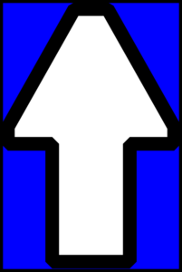 Arrows Up(blue) Clip Art