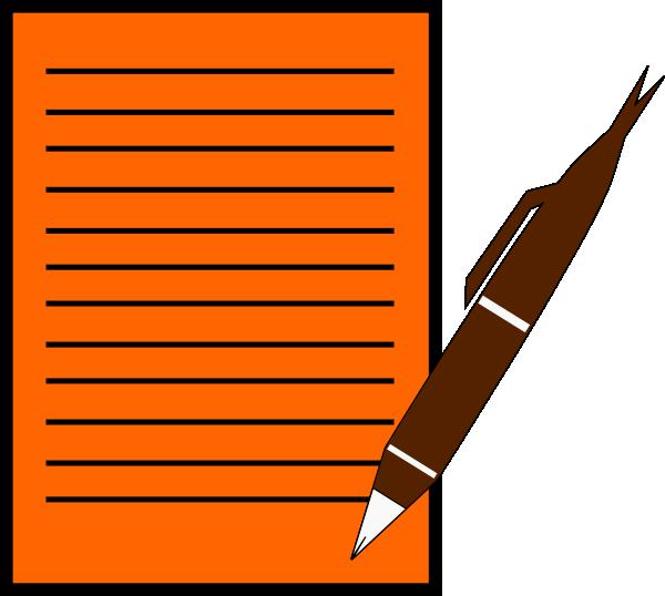 Red Paper And Pen Clip Art at Clker.com - vector clip art ...