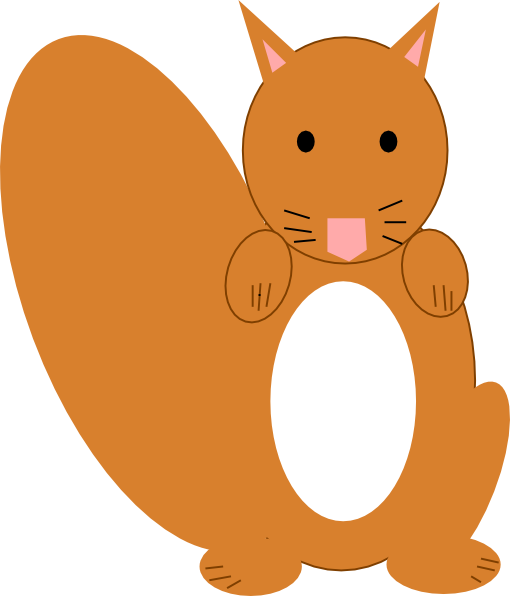 clip art cartoon squirrel - photo #32