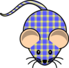 Plaid Mouse Clip Art