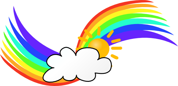 Rainbow Wave Clip Art at Clker.com - vector clip art online, royalty ...