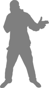 Hip Hop Guy Gray Clip Art