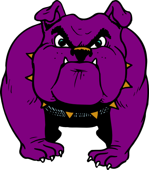 Purple Dog With Gold Collar Clip Art at Clker.com - vector clip art ...