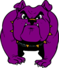 Purple Dog With Gold Collar Clip Art