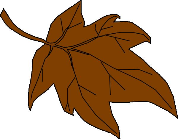 Leaf brown. Autumn clip art at