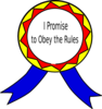 Obey The Rules Badge Clip Art