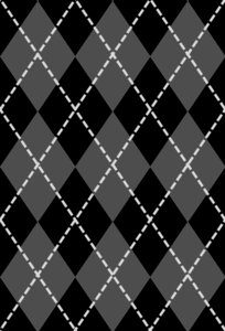Black And Gray Argyle Clip Art