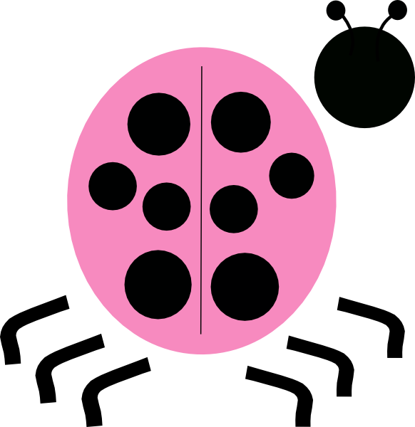 Pink Ladybug Clip Art at Clker.com - vector clip art ... Pink And Green Ladybug Clipart