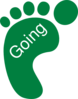 Going Green Footprint Left Clip Art