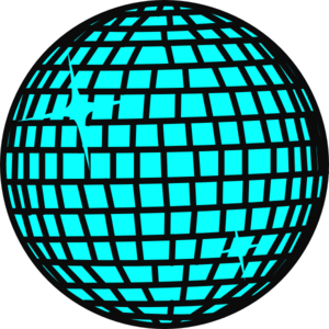 Snow Disco Ball Blau Clip Art