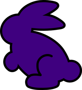 Dark Purple Bunny Clip Art