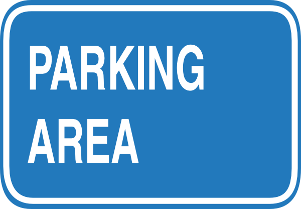 Blue Blank Parking Sign Clip Art at Clker.com - vector clip art online ...