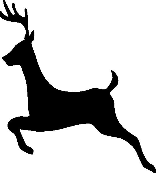 Deer outline profile clip art at clker com vector clip art online