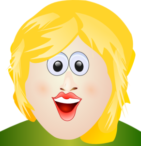 Smiles Blonde Face Clip Art
