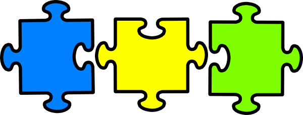 Jigsaw 3 Colors Clip Art At Clker Com Vector Clip Art