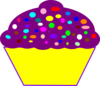Cupcake, Purple Wrapper Clip Art