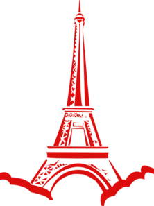 Tower Eiffel Red Clip Art