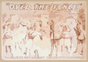 Over The Fence By Owen Davis. Clip Art
