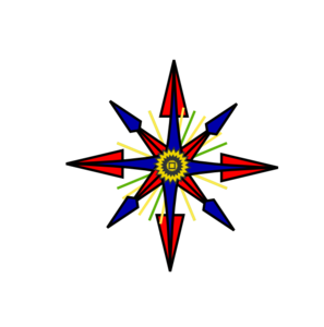 White Letter Point Compass Clip Art