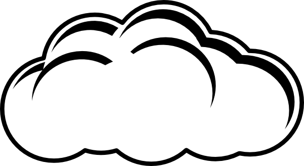 Cloud Outline Clip Art at Clker.com - vector clip art ...