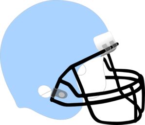 Football Helmet Blue Clip Art