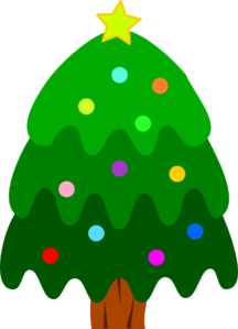 Christmas Tree With Ornaments And Star Clip Art