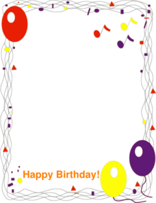 Happy Birthday Border Clip Art