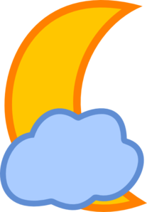Cloud Covered Moon Clip Art